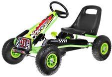 Go-Kart A15 AIR für Pedale, gepumpte Räder, Kinderfahrzeug, Handbremse, Grün