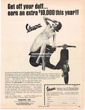 1966 Vespa Motor Scooter Vtg Print Ad