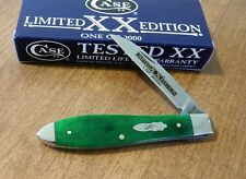 CASE XX New Limited Ed Series 34 Bright Green Bone Tear Drop Jack Knife/Knives
