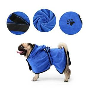 Dog Cat Bathrobe Fast Dry Pet Bath Towel Quickly Absorbing Water Bath Robe Pets