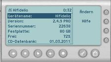 Hermstedt Hifidelio Recovery DVD 19 Firmware 2.4.9 Internet Radio