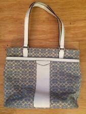 Coach F28927 Signature Stripe Jacquard Tote Shoulder Chambray Purse Handbag