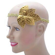 Ladies Large Gold Leaf Grecian Headband Fancy Dress Athena Roman Greek