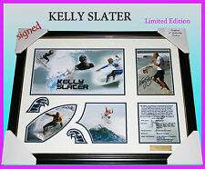 ON SPECIAL! KELLY SLATER SURFING MEMORABILIA SIGNED FRAME, LIMITED EDITION w/COA