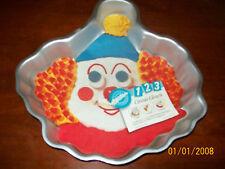 WILTON CIRCUS CLOWN CAKE PAN,TIN,MOLD +INSERT