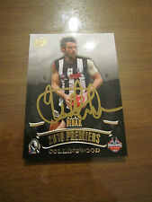 COLLINGWOOD MAGPIES - ALAN DIDAK 2010 SIGNED AFL SELECT PREMIERS CARD