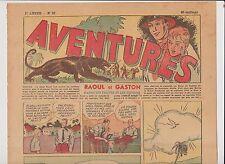 AVENTURES 1ère année 1936. n°23 - 8 septembre 1936.