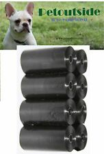 120 DOG PET WASTE POOP BAGS REFILL ROLLS WITH CORE by Petoutside USA