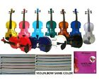New Student Acoustic Violin,Case,Bow,Rosin,Bridge+Extra E String for Replacement
