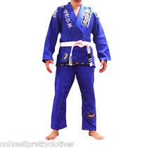 Skanda Jiujitsu Gi Kimono Uniform Pearl weave 10oz ripstop Brazil Suit Blue