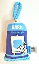 New Cute Barkbox Blue Acrylic Paint Fabric Dog Toy Tags Removed