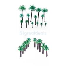 24Pcs Layout Model Train Coco Palm Trees Scene Landscape 5-17cm 1/50 & 1/400 Set