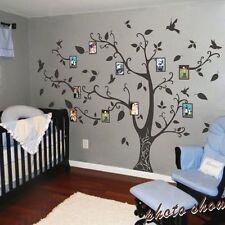 Family Memory of Tree Bird Wall Sticker Photo Frame Vinyl Removable Decor Large