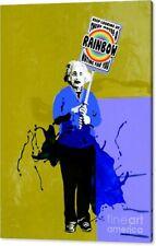 Motiv Albert Einstein Rainbow PopArt/Malerei/StreetArt/Leinwand/Kunstdruck