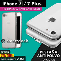 FUNDA TPU Gel TRANSPARENTE ANTIPOLVO para Apple iPHONE 7 iPHONE 7 PLUS iphone7