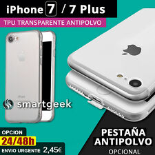 FUNDA TPU Gel TRANSPARENTE ANTIPOLVO para Apple iPHONE 7 iPHONE 7 PLUS iphone7