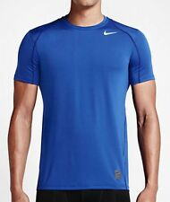 MENS NIKE DRI-FIT PRO COOL SHORT SLEEVE FITTED SHIRT BLUE 703104-480 SZ M
