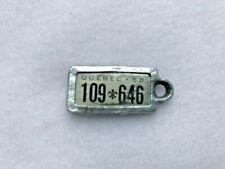1958 QUEBEC Vintage Mini License Plate WAR AMPS KEY TAG # 109 646