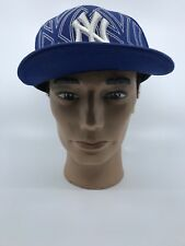 New York Yankees New Era NY 59Fifty Men's Fitted Hat Cap Blue Embroidered Wool