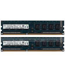 Hynix 8GB 2x 4GB 1Rx8 PC3-14900 DDR3 1866Mhz Non-ECC Low Density Desktop Memory