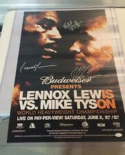 Lennox Lewis Mike Tyson Signed Autographed Famous Fight Poster Full Size Photo