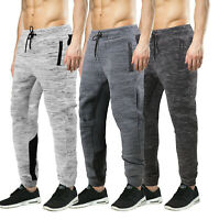 Men's Athletic Cotton Blend Fitness Joggers Gym Sport Heathered Sweatpants