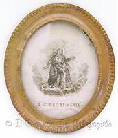 1850 S. Cuore di Maria Antico Ricamo VERI CAPELLI suora Ottavia Barbetti