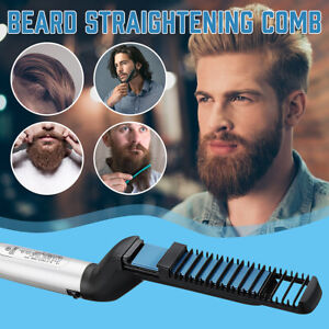 Beard Shaping Styling Comb Tool Hair Straightener Curling Electric Heating Brush