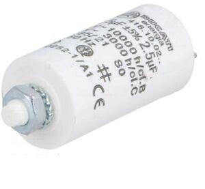 Condensateur Permanent Demarrage Moteur 2.5uF 2.5MF 2.5µF 450V 5% à cosses