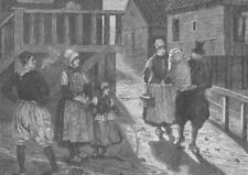 NETHERLANDS. Christening in Marken. On the way to church 1894 old print