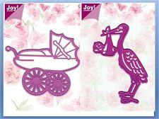 Joy! Crafts - Die Combo Set ~ BABY THEME SET Carriage, Stork, Newborn ~0072,0073