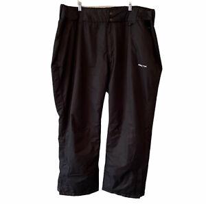 "Arctix Mens Ski Snow Pants Size 4X 32"" Inseam Wind & Water Resistant Black"
