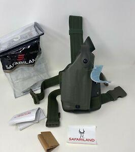 Safariland® 6004 SLS™ Tactical STX Green RH Leg Holster, GLOCK 17 22 31 w/ LIGHT