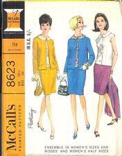 Vintage Uncut Ensemble in half size Sewing Pattern M8623 Size 18.5