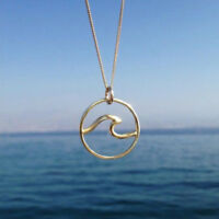 Fashion Wave Necklace Surfer's Jewelry Ocean Life Necklace Wave Pendant Necklace
