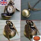 Harry Potter Snitch Colgante De Reloj Steampunk Quidditch Bolsillo