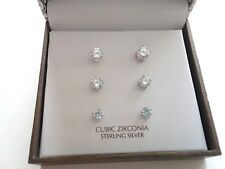 Giani Bernini Earrings Set Sterling Silver New Over Stock In Gift Box