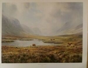 Rex Preston Highland Cattle Glen Coe Landscape Country Scene