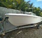 1993 Pio 17 Foot Fiberglass Sea Pro Boat Hull With Trailer No Motor Needs Work