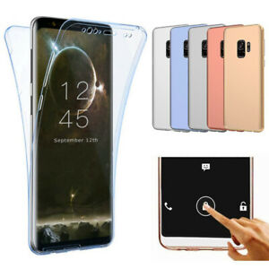 For Samsung Galaxy S9 Full Body 360° Silicone Clear Gel Case Cover Front & Back