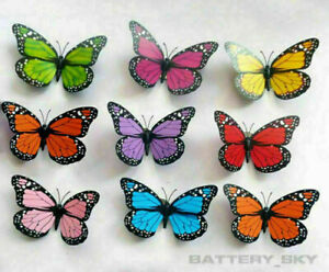 3D Colorful Artificial Butterflies Dummy Craft Wedding Party Floral Decor Gift*1