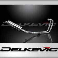 SUZUKI GS500 E/F 1989-2009 FULL 2-1 EXHAUST SYSTEM 350mm STAINLESS OVAL SILENCER