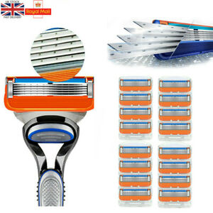 16 Pcs for Gillette Fusion 5-Layer Mens Razor Blade Refills Replacement UK Stock