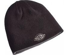 Dickies Reversible Logo Printed Beanie Hat %7c Black Grey %7c HA8015 e656ae1489c9