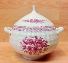 "Hutschenreuther ""Pink Bouquet"" Pattern Lidded Vegetable Tureen."
