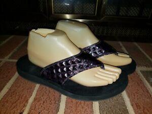 Speedo Purple Thong Flip Flops Womans Size 10