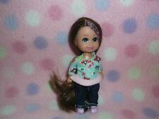 KELLY DOLL sz BROWN LONG HAIR IN ONE PIECE JUMPER OUTFIT NEW! GIRLS 3+ Cute!