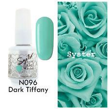 SYSTER 15ml Nail Art Soak Off Color UV Gel Polish UV Lamp N096 - Dark Tiffany