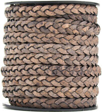Natural Brown Distressed Xsotica-Flat Leather Cord 5.0 MM X 1.0 MM 1 Yard
