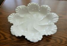 """New ListingLenox Porcelain Ivory Scalloped Oyster Plate Made In Usa 10-1/2"""""""